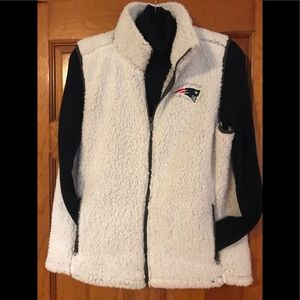 NWT PATRIOTS Fleece Vest, M